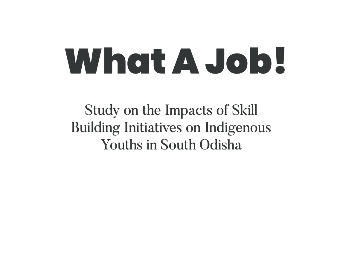 What a Job! Study on the impacts of skill building initiatives on indigenous youth